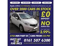 Nissan Note Acenta Premium Mpv 1.2 Manual Petrol GOOD/BAD CREDIT CAR FINANCE