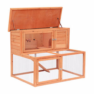 Chicken Coop / Rabbit Cage / Outdoor Animal Pet Hut with Ramp
