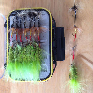Fly Fishing Lures - 64 piece set - New