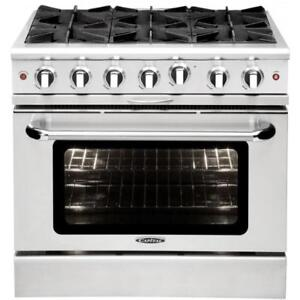 "Capital MCOR366 Culinarian Series 36"" Manual Clean Gas Range"