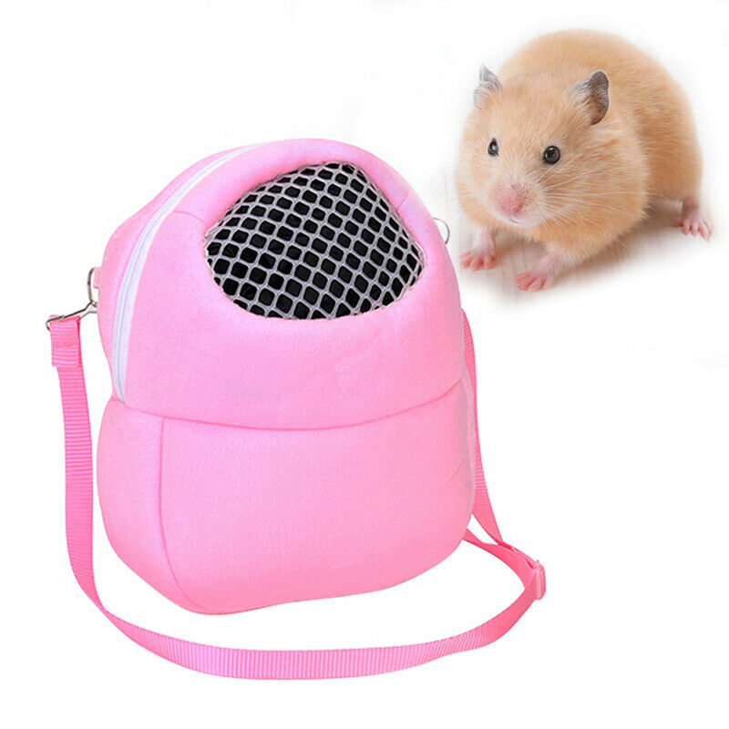 Small Pet Hamster Carrier Bags Outgoing Bag Portable Travel Handbag Backpack New