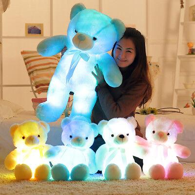 Light Up LED Teddy Bear Stuffed Animal Plush Toy Colorful Glowing Doll Christmas (Glow Stuffed Animal)