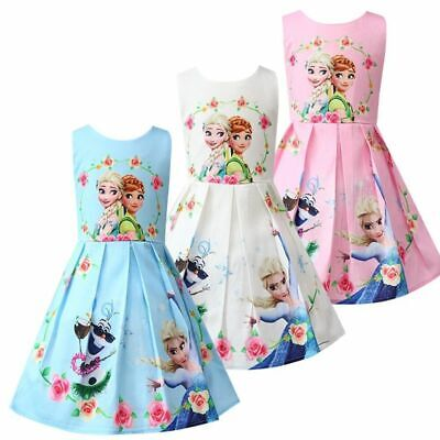 Baby Girl Clothes Queen Princess Anna Elsa Dress Children Girl Party Dress