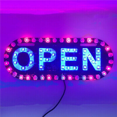 Bright Led Neon Light Open Business Sign Board Signboards For Shop Banner Usa