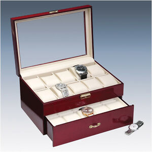 Deluxe Watch Collection Box Showcase Lowest Price!