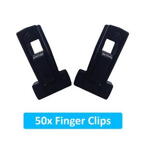 50 New Finger Clips for Velvet Coat Hangers Thin Space Saving Hanger