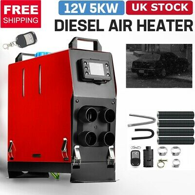 5000W 12V Air Diesel Heater 5KW 4 Holes LCD Monitor PLANAR Trucks Boats Bus Car