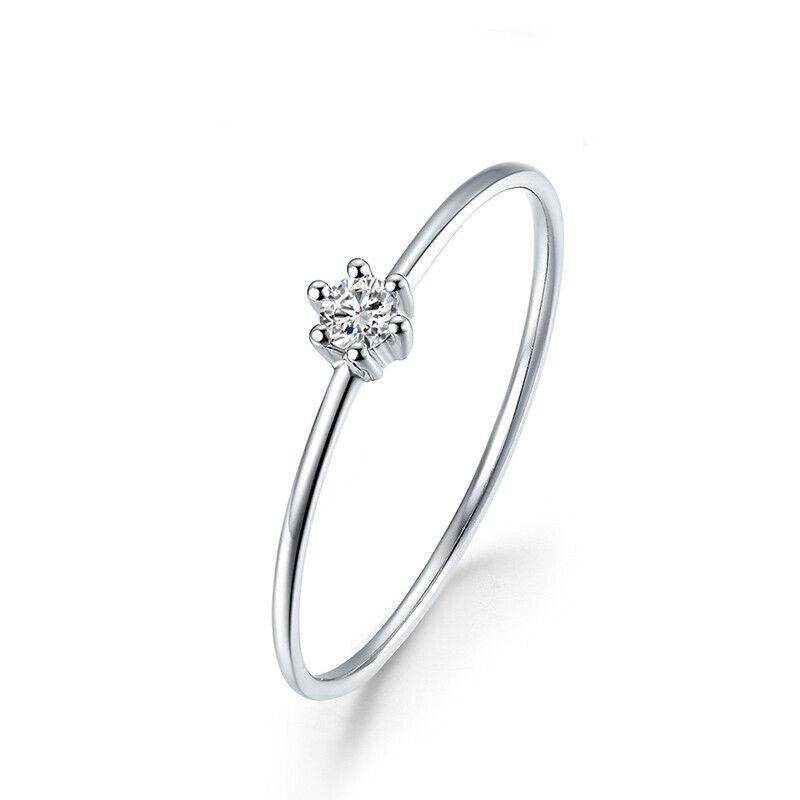Sterling Silver 925 VVS Moissanite Rings For Women Solitaire