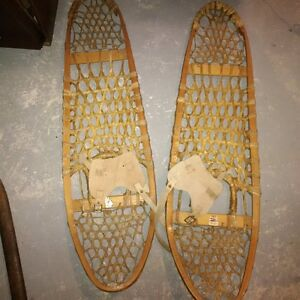 gros louis snow shoes..... wooden with leather St. John's Newfoundland image 1