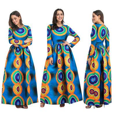 2018 Hot African Lolita 3D Print Boho  Long Party Maxi Dress Women Plus Size