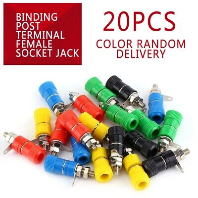 20pcs Binding Post Terminal Female Socket Jack for 4MM Banana Plug Connectors CY Binding Post Connector