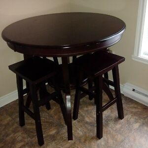 Dark Chocolate solid wood set 4 sale OR trade for console table