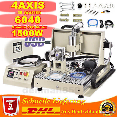4 Axis 6040z Engraving Milling Machine Engraver Cutter Cnc Usb Router Drilling