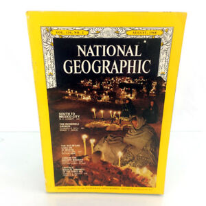 August 1968 National Geographic Magazine Single Issue Mexico