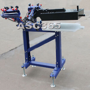 Floor model Screen printing 3 Color Press Printer with Flash Dry