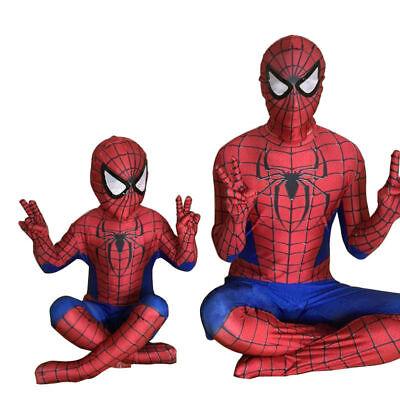 Herren Kinder Jungen Spiderman Superhelden Cosplay Anzug Onesie Bodysuit Overall