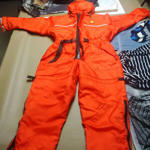 bouy o boy survival suit for winter fishing/snowmobiling