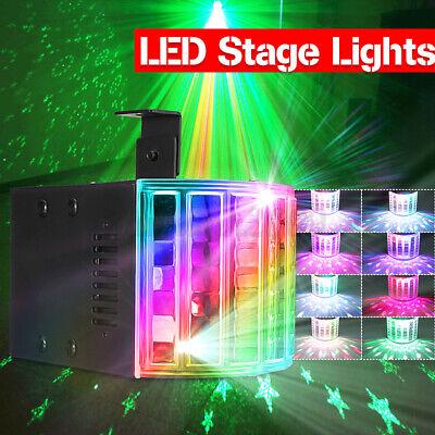 LED 4 Channel 2-eye Pattern Stage Light 10W RG Activation Scene Red Green Full Color Scanning Fan For Family Bar Ktv 121 Disco Lights