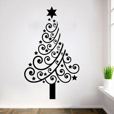 Christmas Tree Wall Sticker Vinyl Decal Window Shop Xmas Home Decor Removable