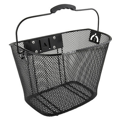 Sunlite Bicycle Basket Front Mesh with Quick Release Bracket - Black