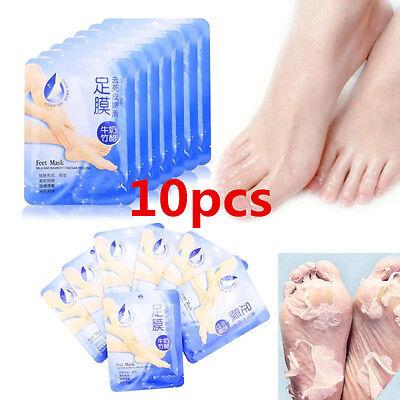 10 Pairs Peeling Fuß Maske Baby Weich Füße Entfernen Hornhaut Hart Tote Haut (Baby Füße Fuß Peeling)
