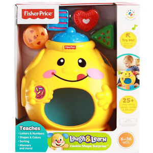 Fisher Price Laugh & Learn Cookie Jar Shape Surprise BRAND NEW