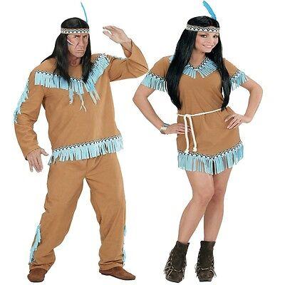 INDIANERIN INDIANER Damen Herren Kostüm camel Squaw Indianerkostüm Kleid Western