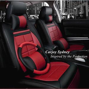 leather car seat cover value pack burgundy toyota mazda honda crv bmw suv holden ebay. Black Bedroom Furniture Sets. Home Design Ideas