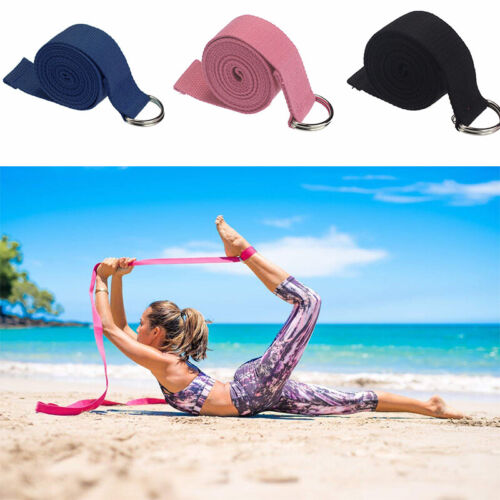 Yoga Stretch Strap D-Ring Belt Fitness Exercise Gym Rope Waist Leg Resistance Fitness, Running & Yoga