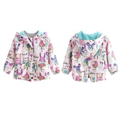 Girls hooded coat outerwear warm jacket for kids casual outwear clothes zip ](Outerwear For Girls)