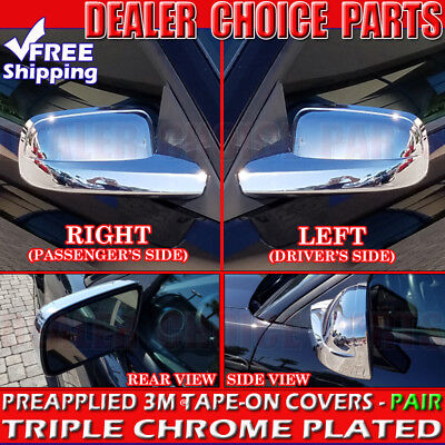 2005 2006 2007 2008 2009 FORD MUSTANG Triple Chrome Mirror COVERS Trim Overlays