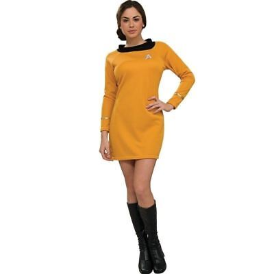 STAR TREK CLASSIC SEXY COSPLAY GOLD FANCY DRESS UP COSTUME Sz XS HALLOWEEN GIFT