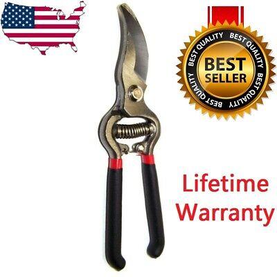 "8"" Home Garden PRUNING SHEARS Snip Tool Pruner Scissors Branch Cutter Tree NEW"