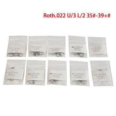 40pcs Dental Orthodontic Band Buccal Tube Molar U3l2 Conv Roth.022 35-39 W