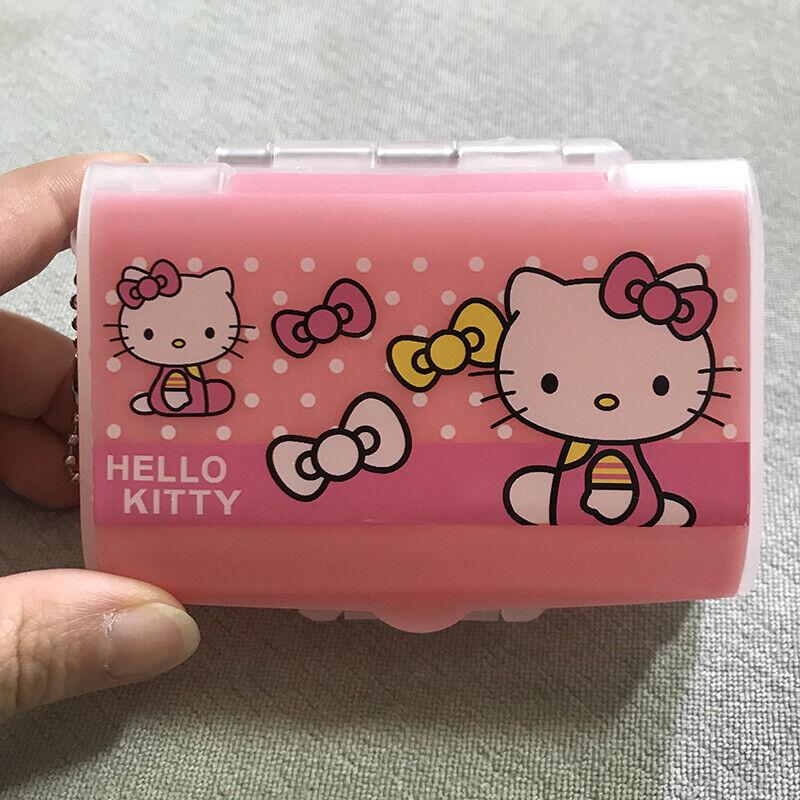 Cute Hello Kitty Pill Case Box Organizer Medicine Vitamin Travel Storage Boxes