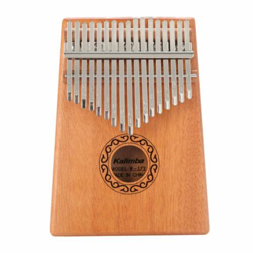 17 Keys Kalimba Finger Thumb Piano Instrument Mahogany Keyboard USA