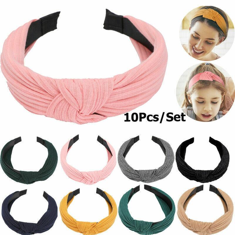Women Bow Knot Cross Headband Twist Headwrap Girls Hair Band Hoop Lady Headwear