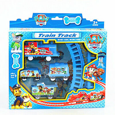 Paw Patrol Dog Doll Figures Electric Train Track Set Kids Baby Boy Girl Toy Gift