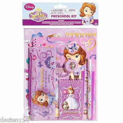 Disney Sofia The First Girls 9 Piece Preschool kit Back to School Supplies New