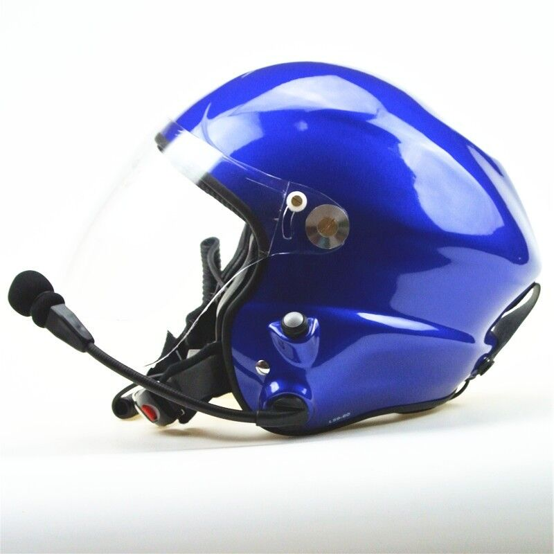 Paramotor Helmet high noise cancle PPG helmet blue helmet withdouble PPT control