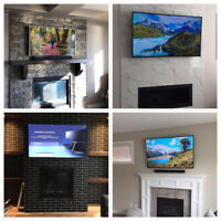 Tv wall mounting installation-same day service- fully insured-
