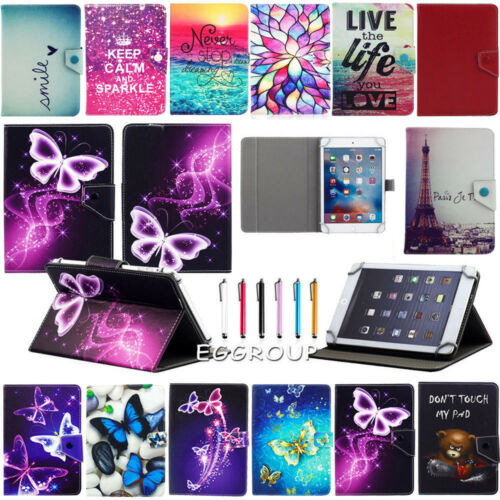 Universal Adjustable Leather Stand Case Cover For Various Tablet 10.1 7 8