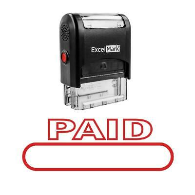 Outline Box Paid Stamp - Self-inking Red
