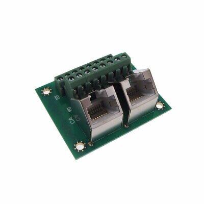 Dual Rj45 Ethernet Breakout Board Module 45d Screw Terminals