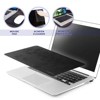 3 in 1 Ultra-Thin Anti-Slip Laptop PC Mat Mouse Pad For Optical Laser -