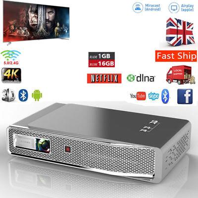 True 8500 Lumens DLP Android 3D Full HD 1080p Projector WIFI Mini Cinema HDMI UK