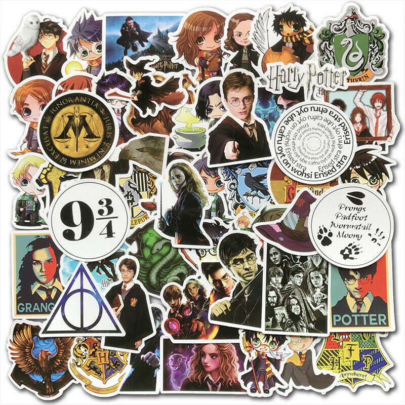 50Pcs Harry Potter Stickers Pack Skateboard luggage Laptop Car Graffiti Decals