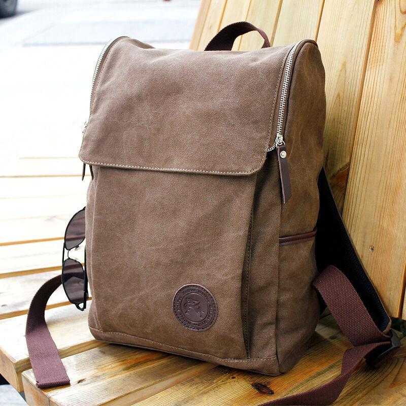 159409a893be Рюкзак, сумка или портфель для мужчины Men s Vintage Canvas backpack  Rucksack Shoulder travel Camping Bag Satchel 1013 - 301575355468 - купить  на eBay.com ...