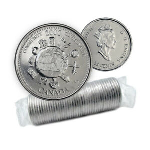 Canada 25 Cents 2000 Millennium Community Coin Roll