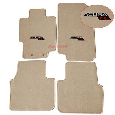 Fits 04-08 Acura TL 4Dr Nylon Beige Floor Mats Carpets Front & Rear w/ Acura TL